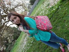 Compass Lane Chic - casual spring outfit, love the Vera Bradley purse.