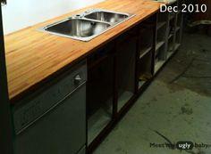 Great review! Ikea butcher block 1 year later: Ikea Lagan countertops reviewed   Meet My Ugly Baby
