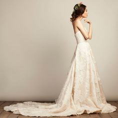 Wedding Hairstyles Inspiration : Audrey wedding dress from Vania Romoff Bridal wedding dresses 2015 – strapless wedding dress with full skirt and short train – see the rest of the colle… 2015 Wedding Dresses, Designer Wedding Dresses, Wedding Attire, Bridal Dresses, Flower Girl Dresses, Bridal Gown, Vania Romoff Bridal, Bridal Looks, Vestidos