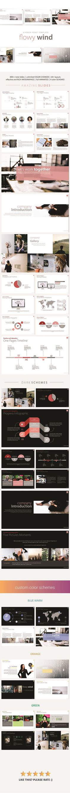 Buy Flowy Wind PowerPoint Template by PresentaKit on GraphicRiver. A Power Point Presentation Template Clean, cheerful looks, elegant, futuristic, and easy to use presentation templat. Web Design, Slide Design, Layout Design, Ppt Template Design, Booklet Design, Design Presentation, Presentation Templates, Business Presentation, Keynote Design