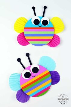 Chunky Rainbow Butterfly Craft For Kids- Lori Knight- # pre-school . Chunky Rainbow Butterfly Craft For Kids- Lori Knight- # pre-school . Spring Crafts For Kids, Fun Crafts For Kids, Toddler Crafts, Diy For Kids, Easy Crafts, Craft Kids, Children Crafts, Decor Crafts, Craft Work