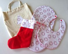 babys first christmas gift set. bib and burp cloth set. unique gift set by on Etsy Christmas Gift Sets, First Christmas, Baby Gift Sets, Baby Gifts, Burp Cloth Set, Bobs, Christmas Stockings, Unique Gifts, Holiday Decor