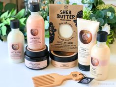 The Shea Butter Range from The Body Shop-- Schoonheidssalonideeën voor schoonhe. - The Shea Butter Range from The Body Shop– Schoonheidssalonideeën voor schoonheidsproducten waarm - The Body Shop, Body Shop At Home, Body Shop Body Butter, Body Soap, Body Lotion, Natural Hair Treatments, Skin Treatments, Natural Make Up, Natural Skin Care