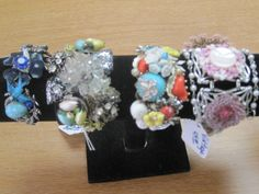 Bracelets designed with upcycled vintage jewelry.  Visit LunasVintage Designs on ETSY.com