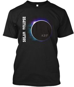 Colorful Total Solar Eclipse Tshirt Black T-Shirt Front