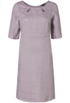 A-lijn jurk met steekzakken Paars