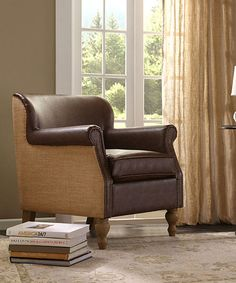 Take a look at this Brown Jute Accent Chair today!