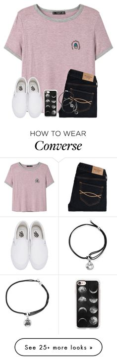 """One Of My Plain Tee+Jeans+Converse Sets Has 6,000+ Views"" by twaayy on Polyvore featuring MANGO, Abercrombie & Fitch, Vans, Casetify and Alex and Ani"