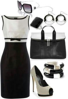 Blanco y negro,  combinación difícil de usar