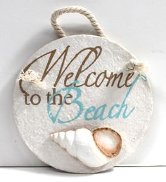Circle Resin Welcome Sign - California Seashell Company Retail