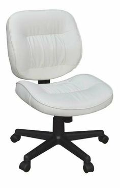 Regency Seating Cirrus Swivel Office Chair, White by Regency Seating. $149.00. Pneumatic Seat Height. Center Tilt. 360 Degree Swivel. Tilt Tension/Tilt Lock. The Cirrus management swivel chair features a black vinyl seat and back.  Bunched seam stitching adds style and comfort to this attractive swivel chair.  Features seat height adjustment and center tilt with tilt tension and lock.