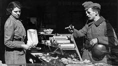 German soldiers in bakery in Norway during ww2