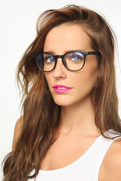 'Brandt' Unisex Rounded Lightly Tinted Clear Glasses - Matte Black #5274-2