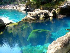 Pozones del Salto in Shoshuenco, Los Rios Region, Chile