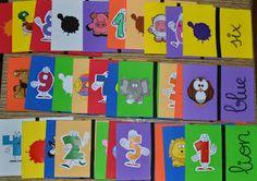 Materiales para alumnos de Educación Infantil: DOMINÓ COLORES-ANIMALES-NÚMEROS