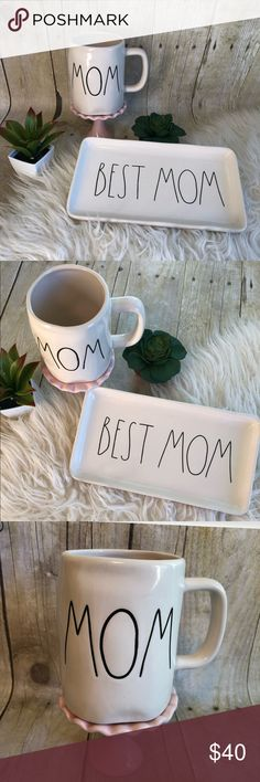 Rae Dunn Mom Mug & Best Mom Plate NWT Rae Dunn mom mug and best mom plate or tray.   Perfect Mother's Day bundle for the Dunn collector!   Thanks for visiting my closet! Rae Dunn Accessories