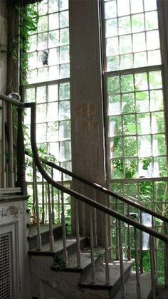 crumbling beauty love the windows and stairs