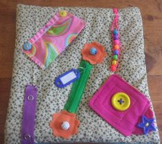 SOLD - Small Fidget Quilt for Alzheimer's Dementia Autism Stroke Sensory Tactile | eBay - made by The Fairy Felt Mother