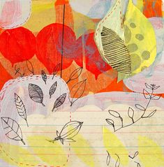 Betsy Walton in art Category Elements Of Art Line, Art Journal Inspiration, Journal Ideas, Red Balloon, Love Illustration, Art Model, Textiles, Abstract Art, Abstract Paintings