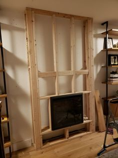 Diy Electric Fireplace How To Tutorial Kismet House Diy Elektrokamin Anleitung Kismet House - Image Upload Services Fireplace Tv Wall, Build A Fireplace, Bedroom Fireplace, Farmhouse Fireplace, Fireplace Inserts, Fireplace Remodel, Fireplace Design, Fireplace Ideas, Living Room No Fireplace