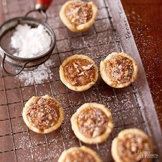 Mmm, pecan pie in mini form. Tassies' small size makes them seem guiltless ... until you suddenly realize you ate the whole pan./