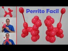 como hacer perritos con globos - globoflexia perro fácil - como hacer figuras con globos - YouTube