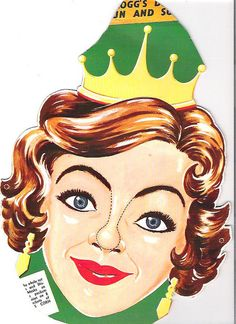 1954 Kelloggs Beauty Queen Mask   Flickr - Photo Sharing!