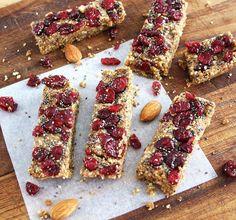 Inspired Edibles: Cranberry Chia Energy Bars (Raw, Vegan, Gluten Free)