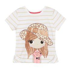 bluezoo Girl's white safari girl t-shirt- at Debenhams.com