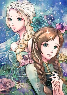 Elsa and Anna by 無題 Philippa