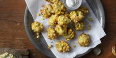 Florida Sweet Corn and Ricotta Fritters : Fresh from Florida - added some garlic salt/pepper; thousand island was great for dipping New Recipes, Vegetable Recipes, Favorite Recipes, Cooking Recipes, Diabetic Recipes, Ricotta Fritters, Corn Fritters, Florida Food, Amigurumi