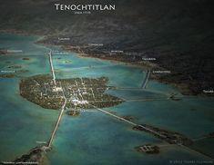 Tenochtitlan en 1519 ¡qué impresionante!
