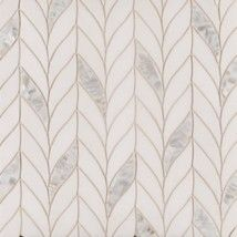 Benton Braid White Thassos/Shell. Stone mosaic #tile. Beautiful for a kitchen backsplash or bathroom floor.