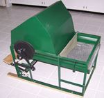 A foot powered thresher for small scale wheat farmers.  Who would have thought?