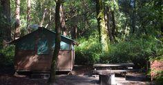 Big Basin Tent Cabins in Big Basin Redwoods, California Big Basin Redwoods, Camping Cornwall, Coleman Camping Stove, Santa Cruz Mountains, Camping Lights, State Parks, Wisconsin, Gazebo, Tent