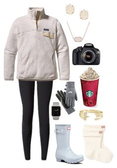 """""""Colorado"""" by gracerickman on Polyvore featuring Hunter, Patagonia, Kendra Scott, The North Face and Canon"""