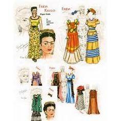 Paper Dolls, Kahlo Paper, Illustration, Mora Frida, Paperdolls, Frida ...