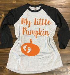 My Little Pumpkin Baseball Style Shirt. by strongconfidentYOU