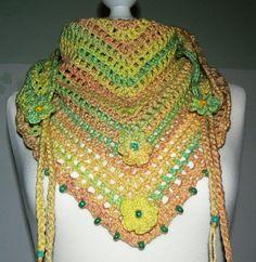 summer multicoloured  Road Trip  scarf crochet by CrochetRagRug