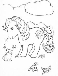 My Little Pony Coloring Pages Vintage My Little Pony, Mi Little Pony, Original My Little Pony, Little Poney, Cat Coloring Page, Cool Coloring Pages, Disney Coloring Pages, Adult Coloring Pages, Coloring Books