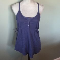 American Eagle tank Perfect brand new with tags navy blue tank. Has ties on both sides and lace back American Eagle Outfitters Tops Tank Tops