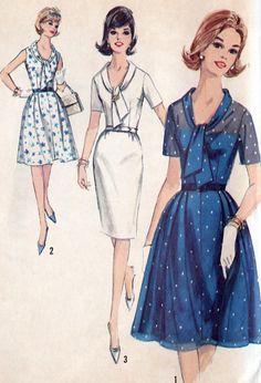 1960s Plus Size Dress Vintage Sewing Pattern  V by MissBettysAttic, $10.00