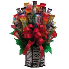 candy bouquet | Send this wonderful candy bouquet instead of flowers to the Snickers ...