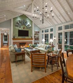 Living Room. Living Room with exposed beams. Living Room with exposed ceiling beams. #LivingRoom #ExposedBeams #ExposedCeilingBeams