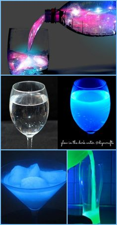 Wow cool project! Ingenious Science Project: How to Make Glow in the Dark Water