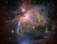 The Orion Nebula and cluster from the VLT Survey Telescope | OmegaCAM — the wide-field optical camera on ESO's VLT Survey Telescope (VST) — has captured the spectacular Orion Nebula and its associated cluster of young stars in great detail, producing this beautiful new image. More information: https://www.eso.org/public/images/eso1723a/ Credit: ESO/G. Beccari