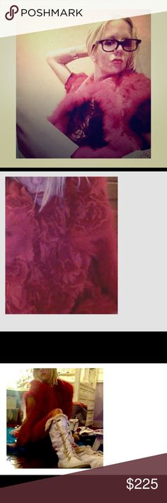 💋Parisienne Floral Fur Vest with Red Rosettes💋 A divine piece of closet candy and artful, fashionable display for all seasons. Tiny rosettes  of fur adorn this plush, posh vest. Purchased in Paris. Fully lined in red satin. Jackets & Coats Vests
