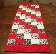 Quilted Table Runner Christmas Table Runner Quilted