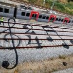 Colorful Street Art on the Train Tracks of Portugal by Artur Bordalo