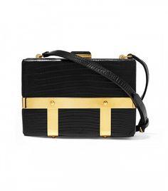 Alexander McQueen Croc-Effect Shoulder Bag